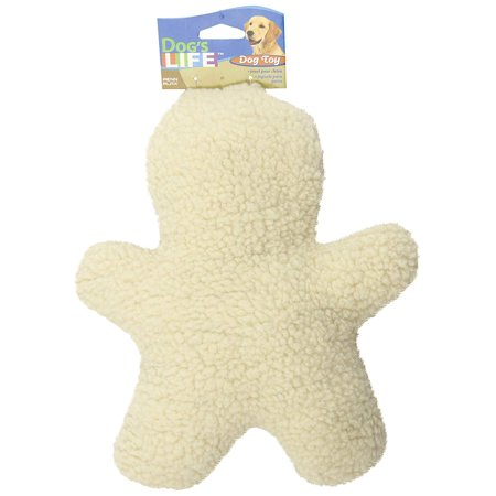 Penn Plax Dog Toy Soft Fleece Man Shaped Tug Toy with Squeaker for Medium Sized Dogs, 12 Inches, Keep your dog busy and active with this toy..., By Dog