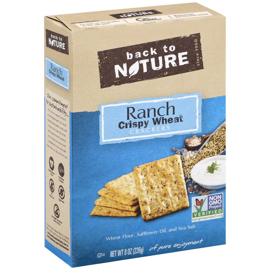 Back to Nature Ranch Crispy Wheat Crackers, 8 oz, (Pack of 6)