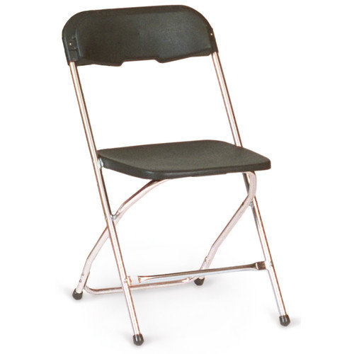 McCourt Manufacturing Chrome Series 5 Plastic Folding Chair (Set of 10)