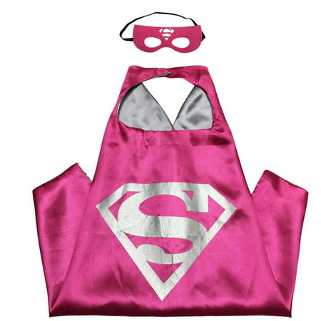 DC Comics Costume - Supergirl Logo Cape and Mask with Gift Box by Superheroes - Supergirl Shirt With Cape