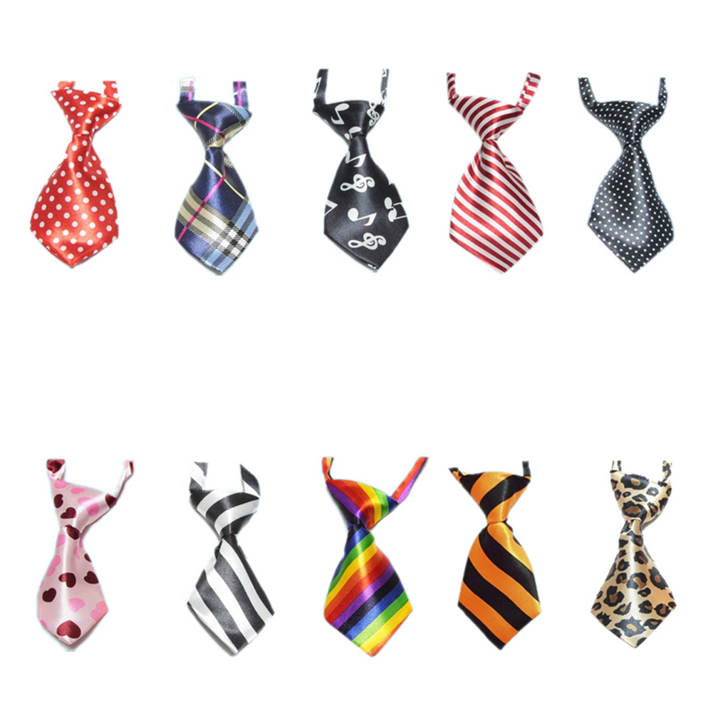 GOGO Dog Neckties Collection, Dog Grooming Accessories, 10 Pcs Assorted-Set 1