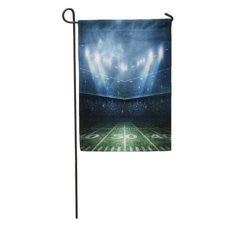 KDAGR Light American Football Stadium Field Night Fan Arena Soccer Game Garden Flag Decorative Flag House Banner 12x18