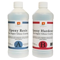 EPOXY RESIN 32 oz kit CRYSTAL CLEAR for Super Gloss Coating and Table Tops