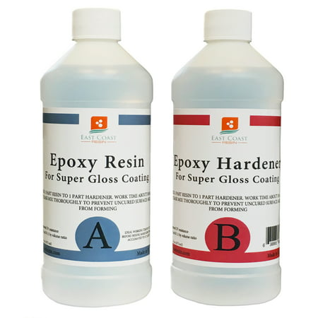 EPOXY RESIN 32 oz kit CRYSTAL CLEAR for Super Gloss Coating and Table - Circle Epoxy