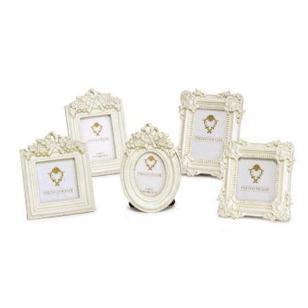 Pack Of 10 Renaissance Ivory Antique Style Mini Photo Picture Frames
