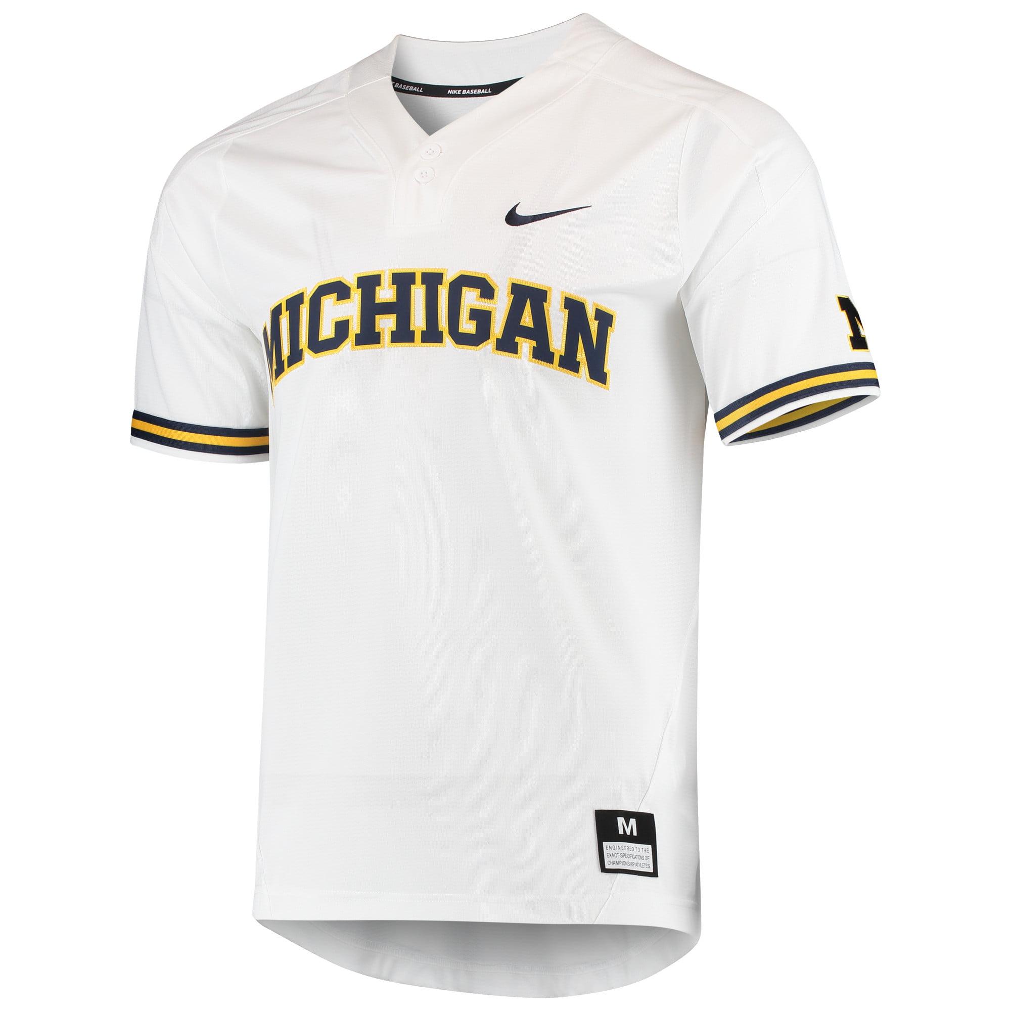 release date ecd6c 75a93 Michigan Wolverines Nike Vapor Untouchable Elite Two-Button Replica  Baseball Jersey - White