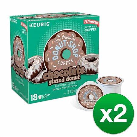 Donut Bed Chocolate Bones - The Original Donut Shop Coffee Chocolate Glazed Donut 36 K Cups