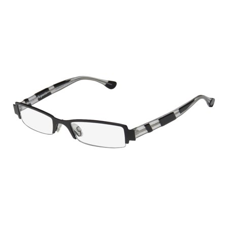 New Harry Lary's Bloody Mens/Womens Designer Half-Rim Black / Transparent Genuine Stylish Hand Made Frame Demo Lenses 48-18-0 Eyeglasses/Spectacles