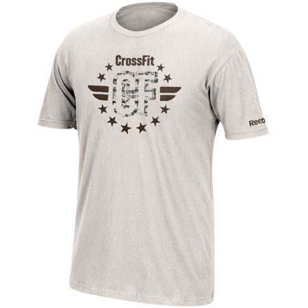 Reebok CrossFit Military Army Logo Men's Grey Graphic - Reebok Logos