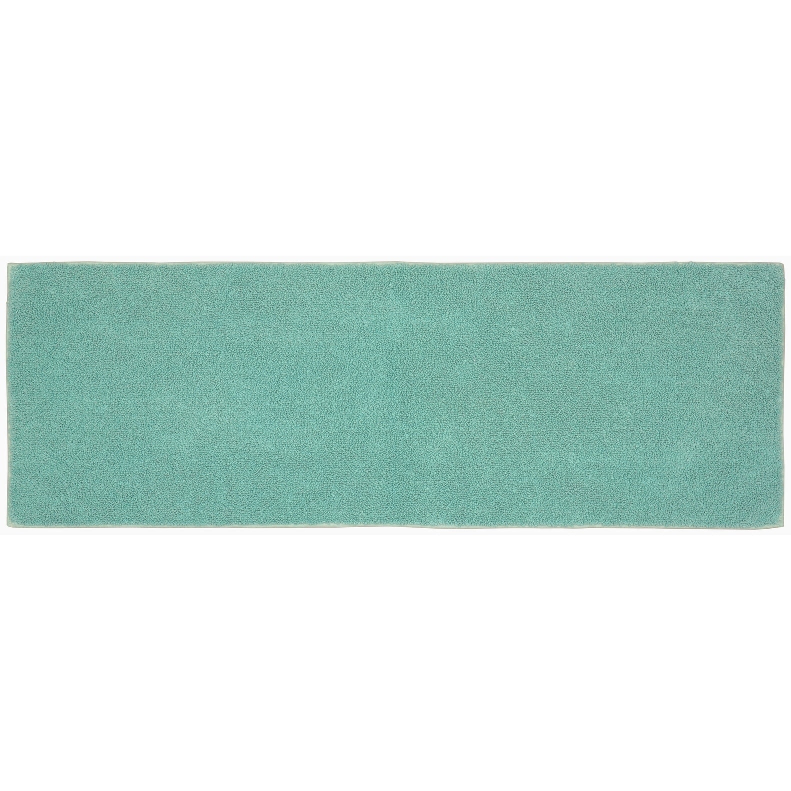 Queen Cotton Sea Foam Washable Bath Rug Runner