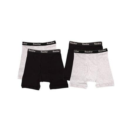 - Knocker Men's 4 Pack of Boxer Briefs Underwear
