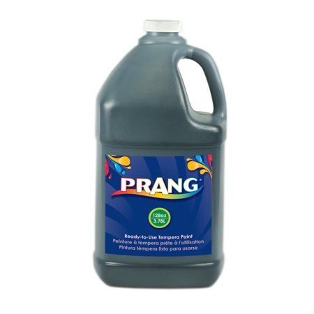 Prang Ready-to-Use Tempera Paint, 128 oz., Black (Black Light Reactive Paint)