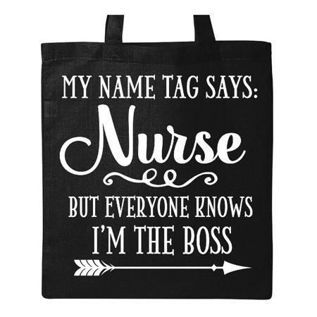 Nurse Tote Bag (Funny Nurse Joke Gift Tote)