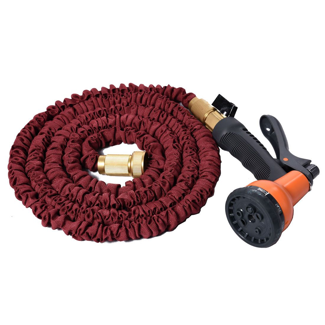 Flexible Garden Water Hose Expandable Spray Nozzle Pipe Copper 25 50 75 100 FT