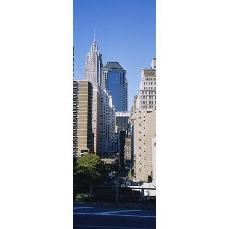 New York City Skyscrapers (Low angle view of skyscrapers Manhattan New York City New York State USA Poster)