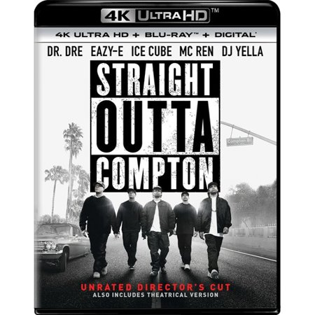 Straight Outta Compton  Unrated Directors Cut   4K Ultra Hd   Blu Ray   Digital