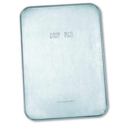 "Galvanized Drip Pan, Large, 47"" x 25"" x 1/2"""