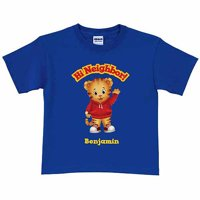 Personalized Daniel Tiger's Neighborhood Hi Neighbor Boys' Royal Blue T-Shirt