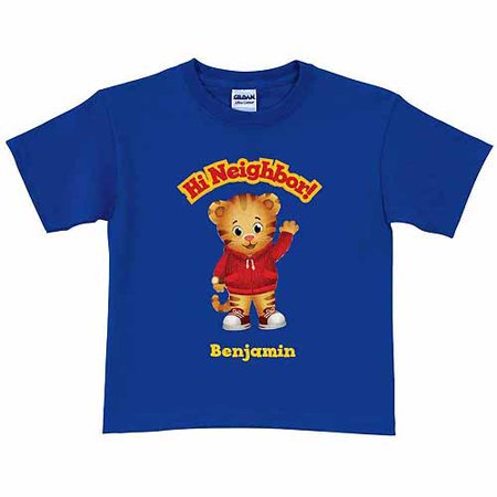 Personalized Daniel Tiger's Neighborhood Hi Neighbor Boys' Royal Blue T-Shirt