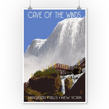 Niagara Falls, New York - Cave of the Winds Close Up - Lantern Press Artwork (9x12 Art Print, Wall Decor Travel