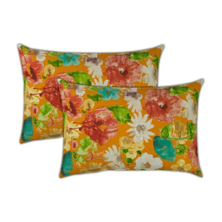 Sherry Kline  Alcove Orange Boudoir Outdoor Pillows (Set of 2) - 13 x - Boudoir Set
