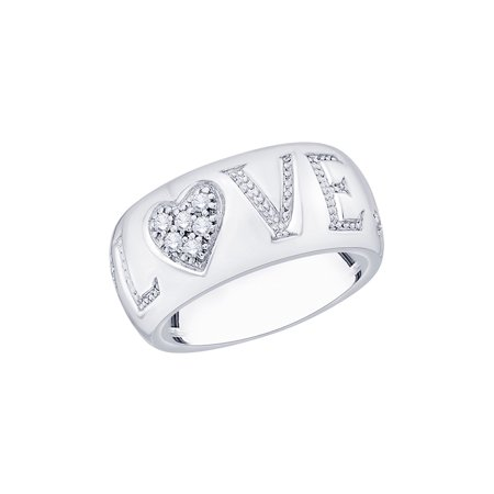 461fe7c62da KATARINA - Prong Set Diamond Love Fashion Ring in 14K White Gold (1 6 cttw