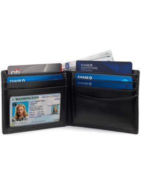 Slim Bifold RFID Bloking Wallet For Men Genuine Leather Packed In Stylish Gift Box