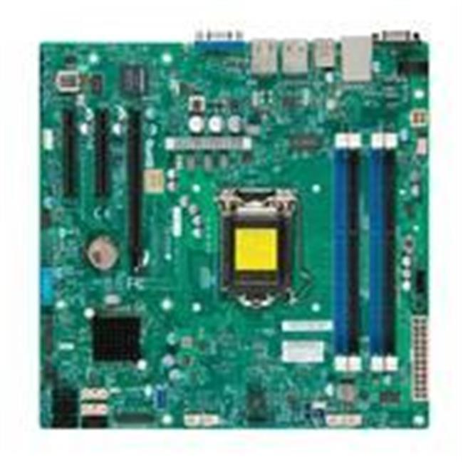Super Micro X10SLL Plus -F-B LGA1150- Intel C222 PCH- DDR...
