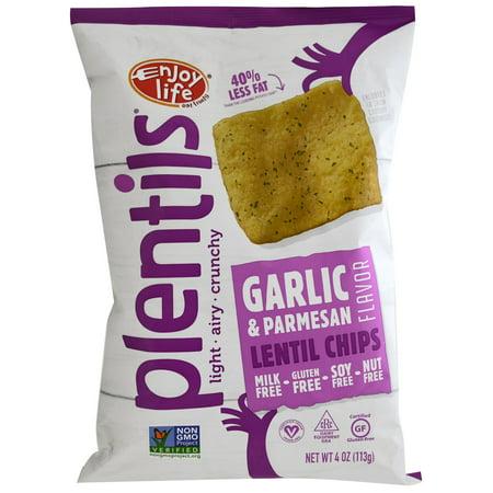 Enjoy Life Foods, Plentils, Lentil Chips, Garlic & Parmesan, 4 oz (pack of 4)