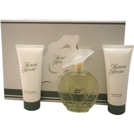 Histoire D'Amour by Aubusson for Women - 3 Pc Gift Set 3.4oz EDT Spray, 3.4oz Body Lotion, 3.4oz Shower Gel