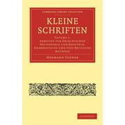 Cambridge Library Collection - Classics: Kleine Schriften - Volume 1 (Paperback)