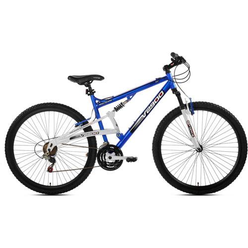 """Cheap 29"""" Genesis V2900 Full Suspension Men's Mountain Bike, Blue/White Review"""
