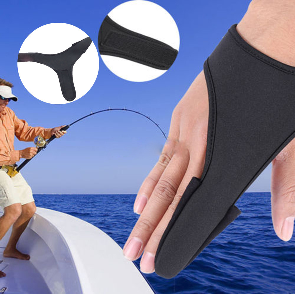 Single Fish Finger Casting Gloves Elastic Band Protector For Fishing Angling New Fashion