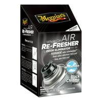 Meguiar's G181302 Whole Car Air Re-Fresher Odor Eliminator Mist, Black Chrome Scent, 2 oz