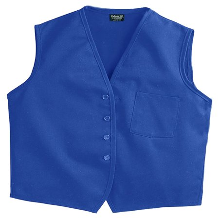 Edwards Garment Cotton Twill Matching Button Apron Vest, Style 4006