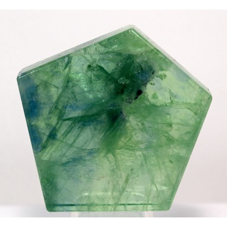 48mm Blue Green Fluorite Slab Natural Sparkling Crystal Slice Polished Lapidary Mineral Stone