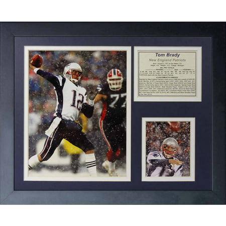 Legends Never Die Tom Brady Snow Framed Photo Collage  11  X 14