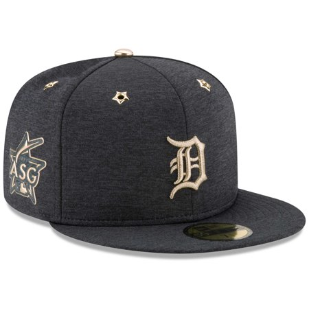 brand new 481bb 41fcc Detroit Tigers New Era 2017 MLB All-Star Game Side Patch 59FIFTY Fitted Hat  - Heathered Navy - Walmart.com