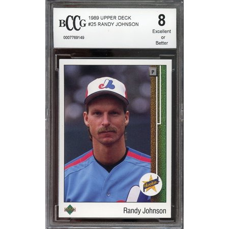 1989 Upper Deck  25 Randy Johnson Seattle Mariners Rookie Card Bgs Bccg 8