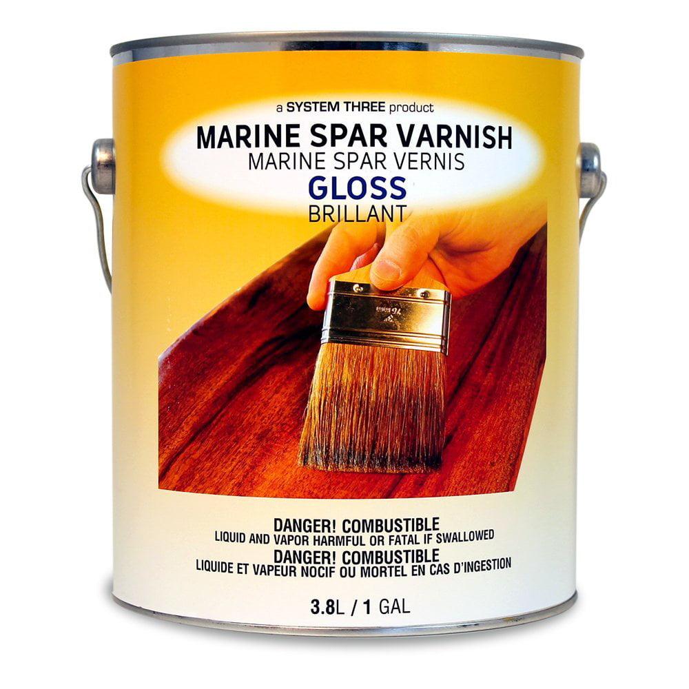 System Three 1850S24 Clear Marine Spar Urethane Varnish C...
