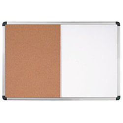 Office Depot® Brand Magnetic Dry-Erase Combo Board, Cork/Steel, 24