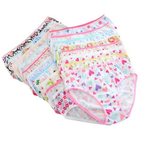6pcs Baby Girls Underwear Cotton Panties Kids Short Briefs Underpants