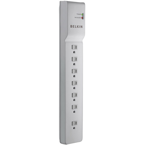Belkin BE107000-06-CM 7-Outlet Home/Office Surge Protector with 6' Cord