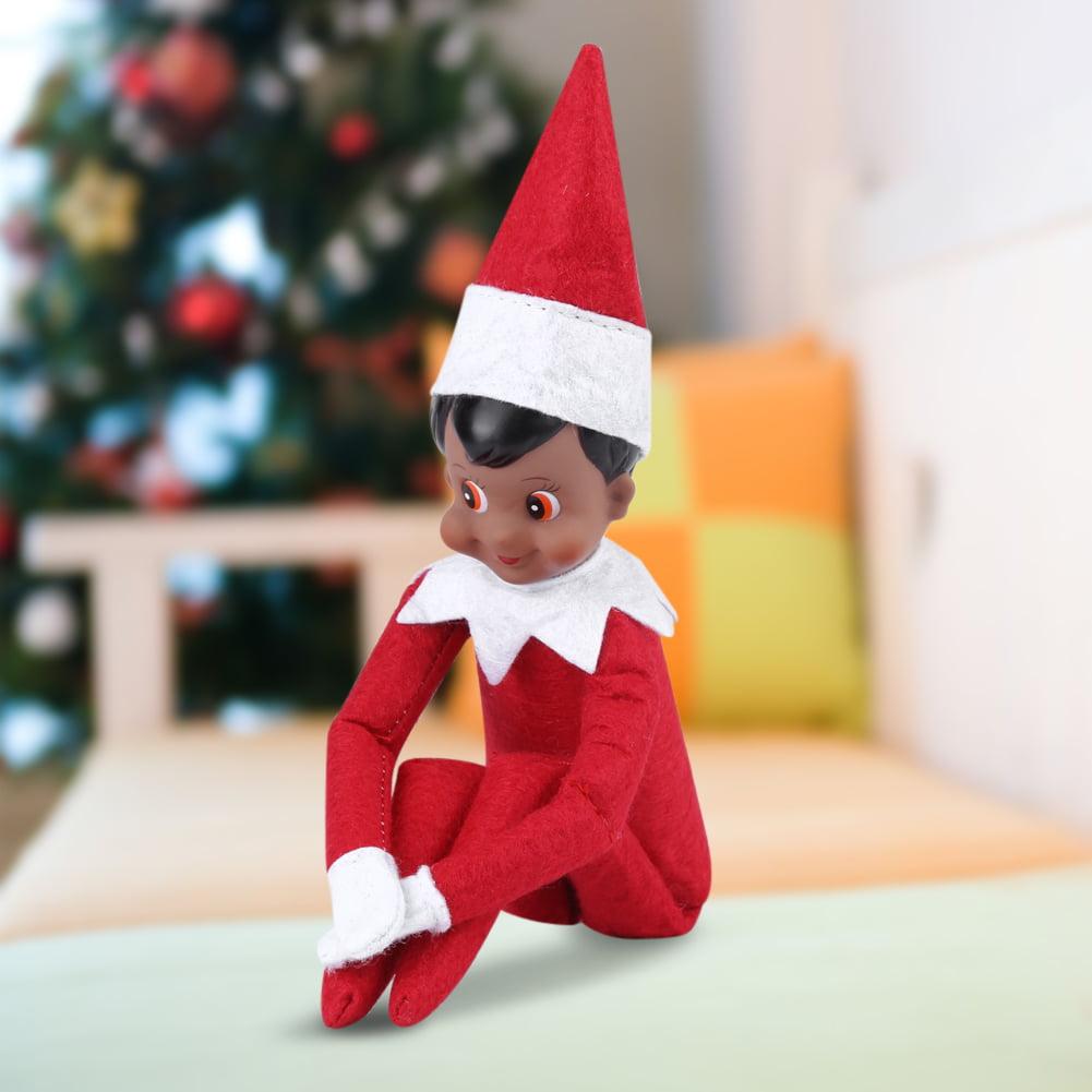 Yosoo Christmas Decoration Ornament Boy Girl Figure Toys Elf Plush