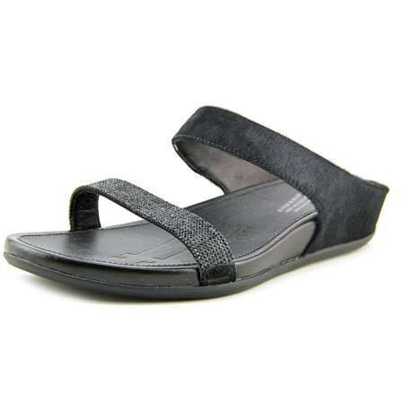 29dab59274da FitFlop - FitFlop Banda Micro-Crystal Women Open Toe Suede Black Slides  Sandal - Walmart.com