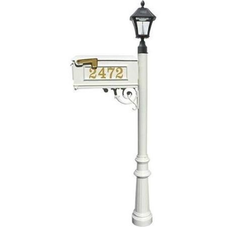 Lewiston LMCV 800 SL WHT Mailbox Post System with Fluted Base Bayview