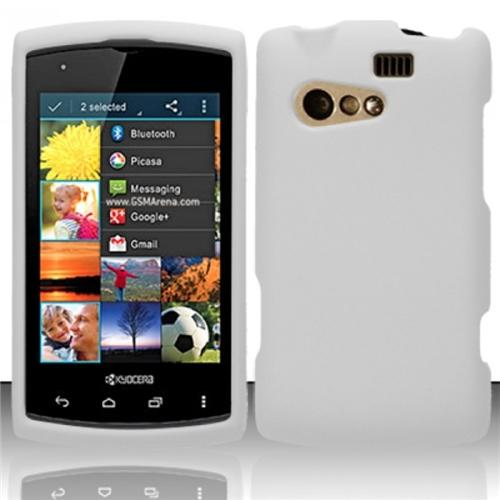 Insten For Kyocera Rise C5155 Rubberized Cover Case - White