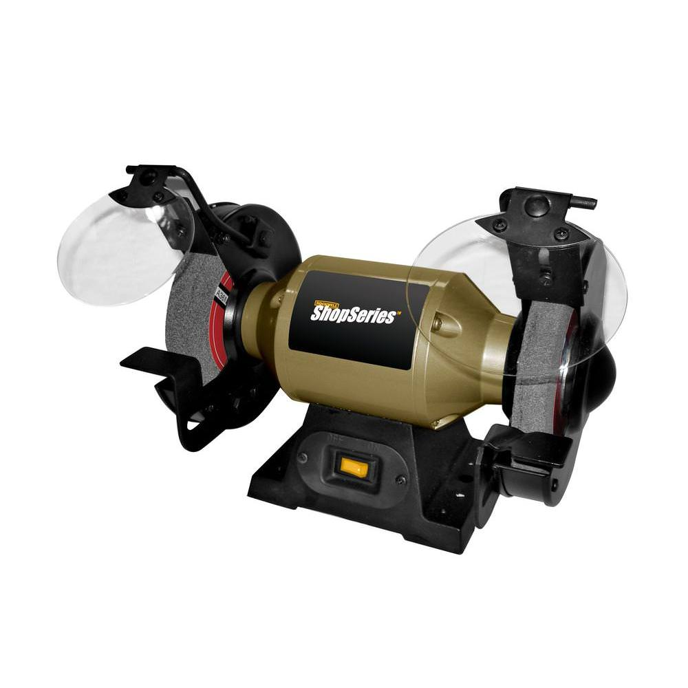 Rockwell ShopSeries RK7867 2.0 Amp Corded 6 in. Bench Grinder by Positec