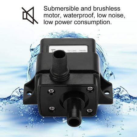 Qiilu 12V DC Ultra-Quiet Brushless Motor Submersible Water Pump for Garden Aquarium ,Water Pump, Submersible Water Pump - image 4 of 8