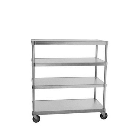 Prairie View N244860-4-CHL2 Mobile 4 Tier Queen Mary Shelving Units, 54 x 24 x 60 in.